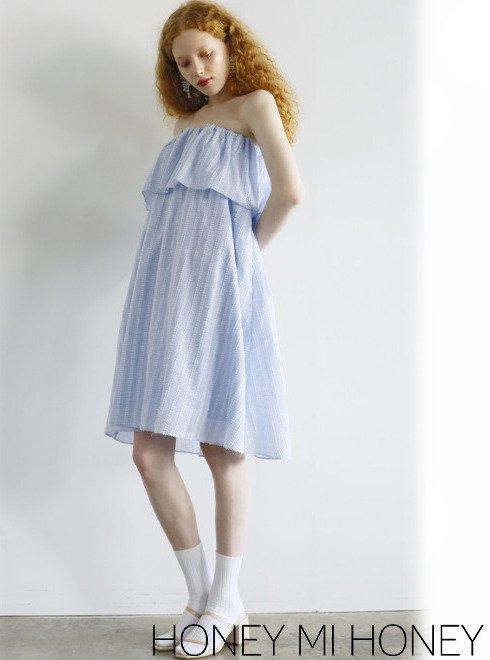 Honey mi Honey (ハニーミーハニー)<br>dobby cotton skirt  20春夏【20S-VG-12】ロング・マキシスカート 20es