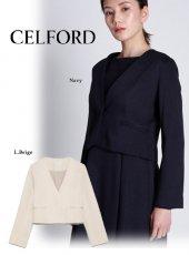 CELFORD (セルフォード)<br>ポンチノーカラージャケット  20春夏【CWCJ201016】ジャケット