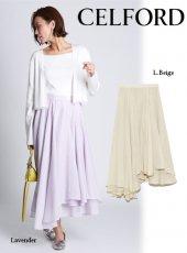 CELFORD (セルフォード)<br>シアーボリュームスカート  20春夏【CWFS201062】フレアスカート