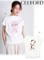 CELFORD (セルフォード)<br>コラボプリントワイドTシャツ  20春夏予約【CWCT201107】Tシャツ
