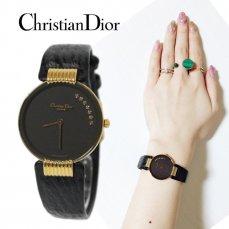 Dior ディオール ヴィンテージ<br>バキラ/ブラックムーン腕時計 7Pダイヤ【vintage By RiLish】ランクBAその他