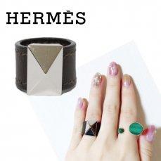 HERMES エルメス ヴィンテージ<br>メドールレザーリング S【vintage By RiLish】ランクABリング