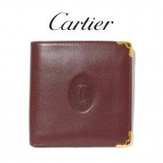 Cartier カルティエ ヴィンテージ<br>マストライン二つ折り財布【vintage By RiLish】ランクABその他