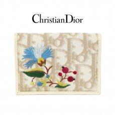 Dior ディオール ヴィンテージ<br>フラワー刺繍トロッター名刺・カードケース【vintage By RiLish】ランクABその他