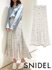 snidel (スナイデル)<br>プリントナローフレアスカート  20春夏【SWFS201125】ロング・マキシスカート