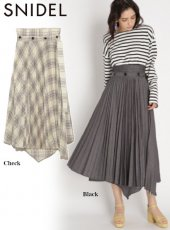 snidel (スナイデル)<br>プリーツレイヤードスカート  20春夏【SWFS201120】フレアスカート