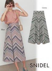 snidel (スナイデル)<br>ストライプジャガードスカート  20春夏【SWFS201122】フレアスカート