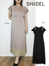 snidel (スナイデル)<br>バックシャンレースドレス  20春夏【SWFO201048】マキシワンピース