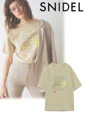 snidel (スナイデル)<br>デザインロゴTシャツ 20春夏【SWCT201109】Tシャツ