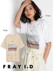 FRAY I.D (フレイアイディー)<br>フロントフォトT  20春夏【FWCT201213】Tシャツ