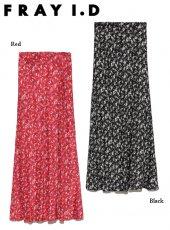FRAY I.D (フレイアイディー)<br>プリントサテンナロースカート  20春夏予約【FWFS201068】ロング・マキシスカート