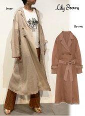 Lily Brown (リリーブラウン)<br>シースルートレンチコート  20春夏【LWFC201117】トレンチコート