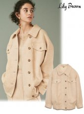 Lily Brown (リリーブラウン)<br>ツイードオーバージャケット  20春夏【LWFJ201099】ジャケット 20es