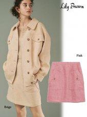 Lily Brown (リリーブラウン)<br>ツイードミニスカート  20春夏【LWFS201146】タイトスカート