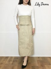 Lily Brown (リリーブラウン)<br>ベルト付きタイトスカート  20春夏【LWFS201006】タイトスカート