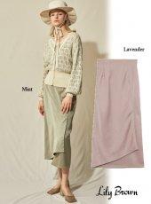 Lily Brown (リリーブラウン)<br>サテンスカート  20春夏予約【LWFS201143】タイトスカート