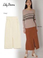Lily Brown (リリーブラウン)<br>フロントスリットスカート  20春夏【LWFS201111】タイトスカート 20es