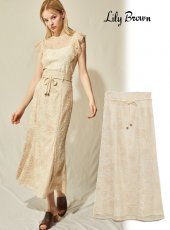 Lily Brown (リリーブラウン)<br>刺繍レースマーメイドスカート  20春夏予約【LWFS201105】タイトスカート