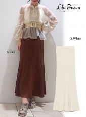 Lily Brown (リリーブラウン)<br>透かし柄編みニットスカート  20春夏【LWNS201057】タイトスカート 20es