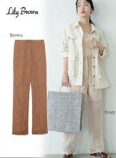 Lily Brown (リリーブラウン)<br>シースルーパンツ  20春夏【LWFP201175】パンツ