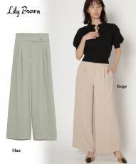Lily Brown (リリーブラウン)<br>サイド釦デザインパンツ  20春夏【LWFP201010】パンツ