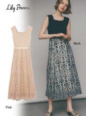 Lily Brown (リリーブラウン)<br>総刺繍カットドッキングワンピース  20春夏【LWFO201119】マキシワンピース