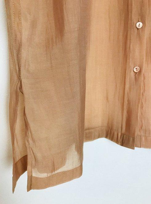 Blouse 16cm x 10 cm each Floral Motif for Dress Satin Collar Cardigan White