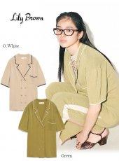 Lily Brown(リリーブラウン)<br>ラインニットシャツ  20春夏【LWNT201019】ニットトップス