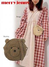 merry jenny (メリージェニー)<br>Knit Bear Pochette  20春夏予約【282011900401】ハンド・ショルダーバッグ
