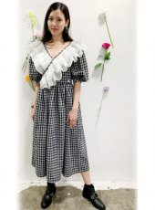 sister jane (シスタージェーン)<br>Pearly Ruffle Wrap Dress  20春夏【21SJ01DR1189GRY】オールインワン・コンビネゾン