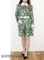 sister jane (シスタージェーン)<br>Periwinkle Pleated Mini Dress   20春夏【21SJ01DR1190GRN】タイトワンピース