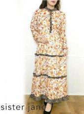 sister jane (シスタージェーン)<br>Wild Flora Ruffle Midi Dress   20春夏【21SJ01DR1192YLW】マキシワンピース