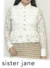 sister jane (シスタージェーン)<br>Orchid Lace Peplum Shirt   20春夏【21SJ01BL901IVO】シャツ・ブラウス
