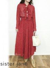 sister jane (シスタージェーン)<br>Flutter Dot Maxi Dress  20春夏【21SJ01DR1194RED】フレアワンピース