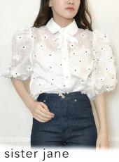 sister jane (シスタージェーン)<br>Posy Puff Sleeve Blouse  20春夏【21SJ01BL904WHT】シャツ・ブラウス