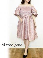 sister jane (シスタージェーン)<br>Ripple Jacquard Mini Dress  20春夏【21SJ01DR1197PNK】フレアワンピース