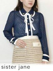 sister jane (シスタージェーン)<br>Cub Lily Ruffle Shirt  20春夏【21SJ01BL907NVY】シャツ・ブラウス