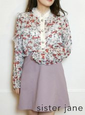 sister jane (シスタージェーン)<br>Darling Bud Lace Shirt   20春夏【21SJ01BL909MUL】シャツ・ブラウス