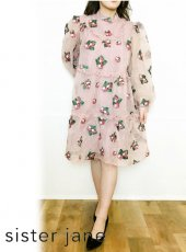 sister jane (シスタージェーン)<br>Strawberry Lane Tiered Smock Dress   20春夏【21SJ01DR1203PNK】フレアワンピース