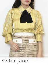 sister jane (シスタージェーン)<br>Sunshine Bow Blouse   20春夏【21SJ01BL911YLW】シャツ・ブラウス