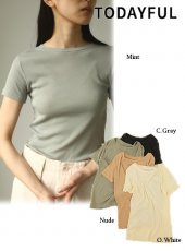 TODAYFUL (トゥデイフル)<br>Soft Rib T-Shirts  20春夏.予約【12010622】Tシャツ  受注会