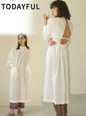 TODAYFUL (トゥデイフル)<br>Gauze Gather Dress  20春夏.【12010332】フレアワンピース   20es