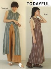 TODAYFUL (トゥデイフル)<br>Jacquard Knit Dress  20春夏.予約【12010323】マキシワンピース  受注会