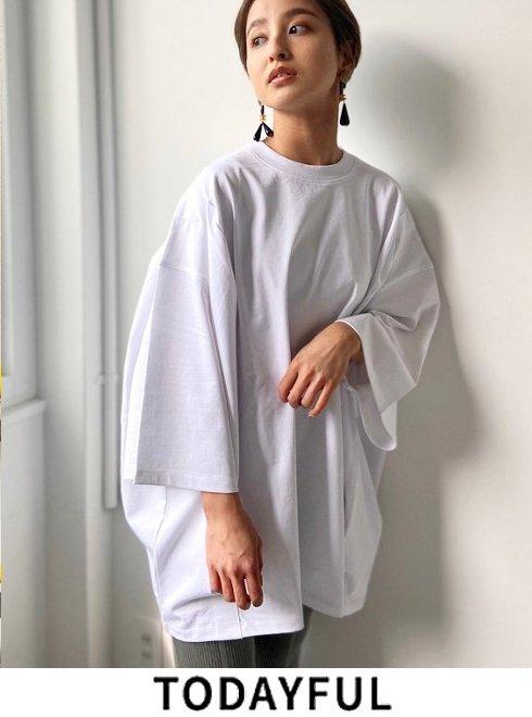 TODAYFUL (トゥデイフル)<br>Tuck Over T-Shirts  21春夏.2 【12010609】シャツ・ブラウス