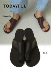 TODAYFUL (トゥデイフル)<br>Leater Tong Sandals  20春夏.予約【12011047】サンダル  受注会