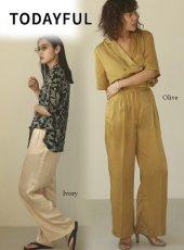 TODAYFUL (トゥデイフル)<br>Crepe Satin Trousers  20春夏.予約【12010722】パンツ  受注会