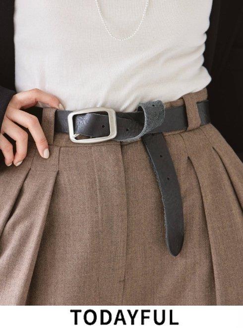 TODAYFUL (トゥデイフル)<br>Vintage Leather Belt  21秋冬.予約2【12011063】※入荷時期:10月中旬〜