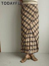 TODAYFUL (トゥデイフル)<br>Check Wraparound Skirt  20春夏.予約【12010812】タイトスカート  受注会