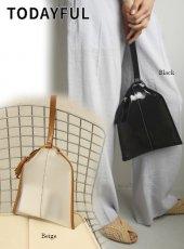 TODAYFUL (トゥデイフル)<br>Leather x PVC Bag  20春夏.【12011044】ハンド・ショルダーバッグ