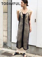 TODAYFUL (トゥデイフル)<br>Mesh Knit Dress  20春夏.【12010334】タイトワンピース 20es